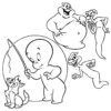 Casper the Friendly Ghost Coloring Pages for Children