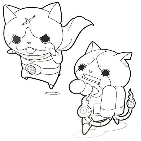 Hilarious yo kai watch coloring page