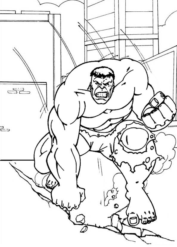 Hulk Superhero Coloring Page