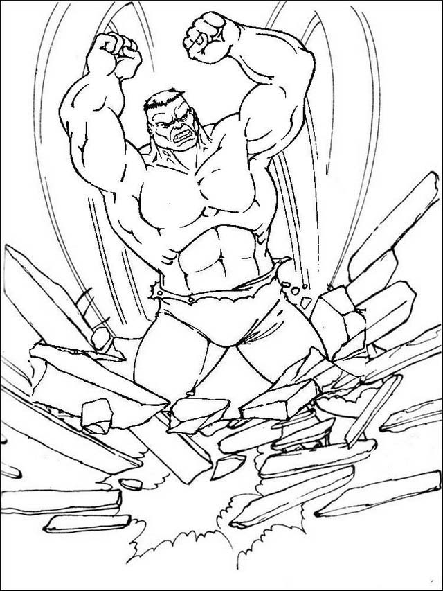 Hulk comics coloring pages for kids