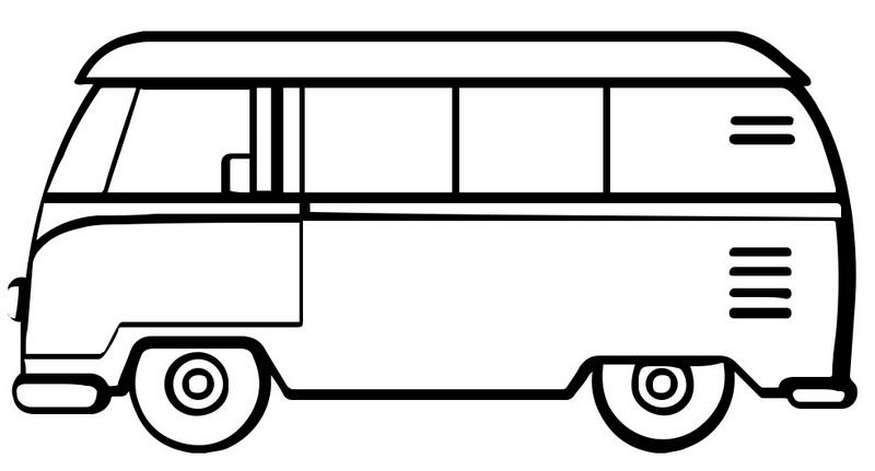 Minibus Van Coloring Pages