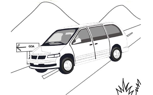 Mountain Van Minibus Tours Coloring Page