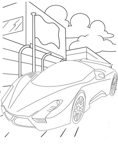New Bugatti Coloring Page for Children