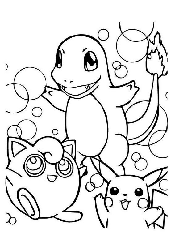 Pokemon charmander nintendo coloring page