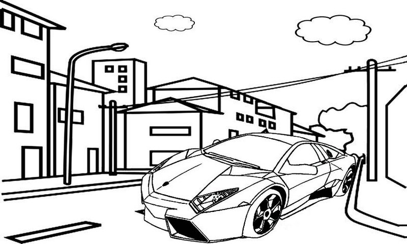 Printable Bugatti Car Coloring Pages for Kids