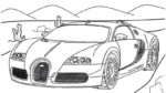 14 Exclusive Super Sport Car Bugatti Coloring Pages