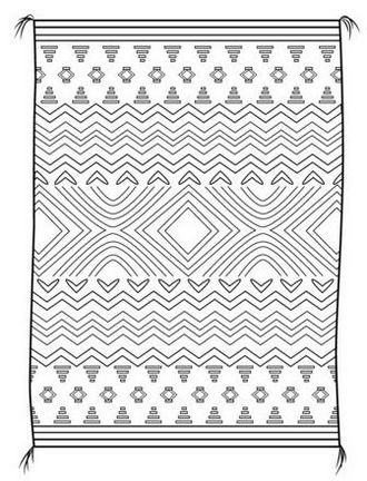 awesome rug coloring page design idea