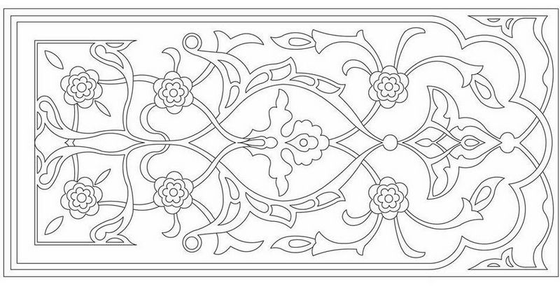 beautiful rug carpet coloring page