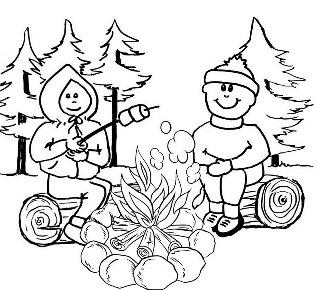 best campire coloring pages for boys and girls