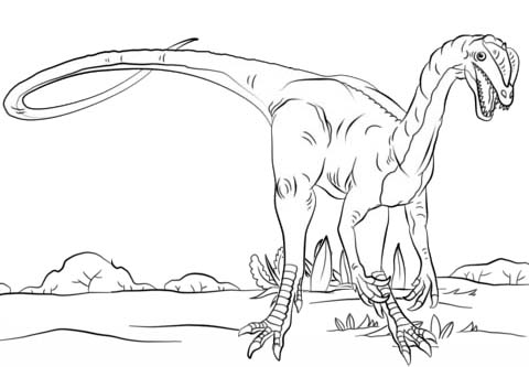 best dilophosaurus coloring page