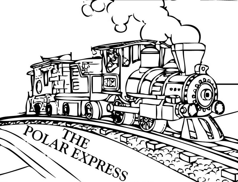 best polar express film coloring pages