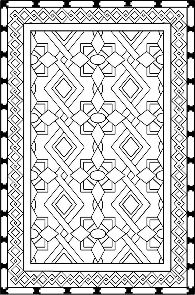 best rug carpet design coloring page