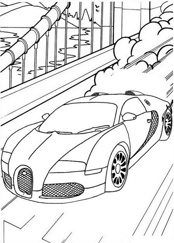 bugatti veyron sport car coloring pages