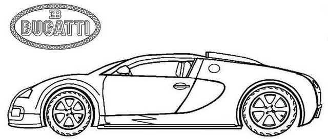 bugatti veyron super sport colouring pages