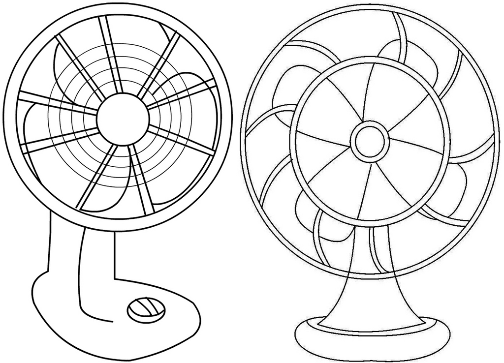 fun fans coloring pages for kids