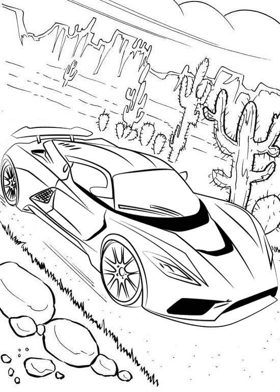 fun veyron bugatti coloring page