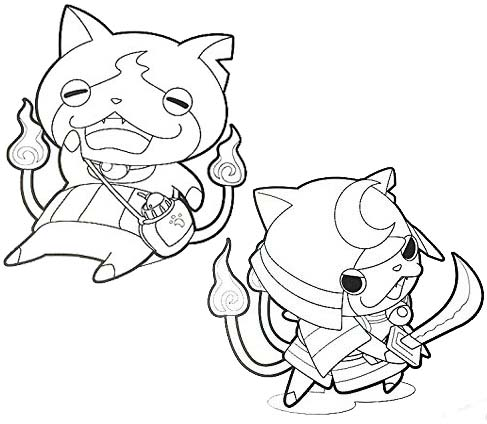 fun yo kai watch coloring page