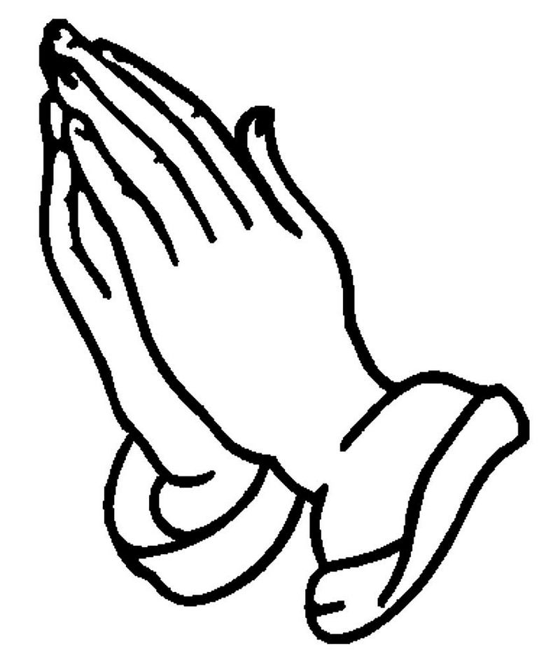 hands of prayer icon coloring page clipart