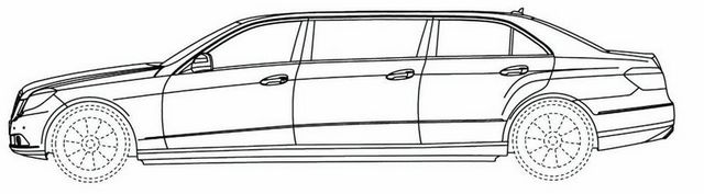 mercy limousine car coloring page
