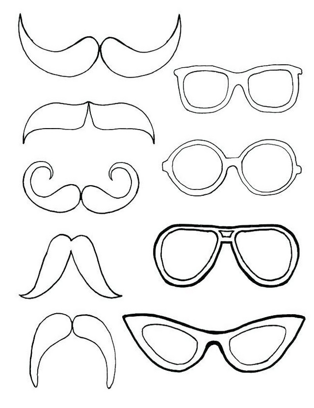 mustache models coloring pages