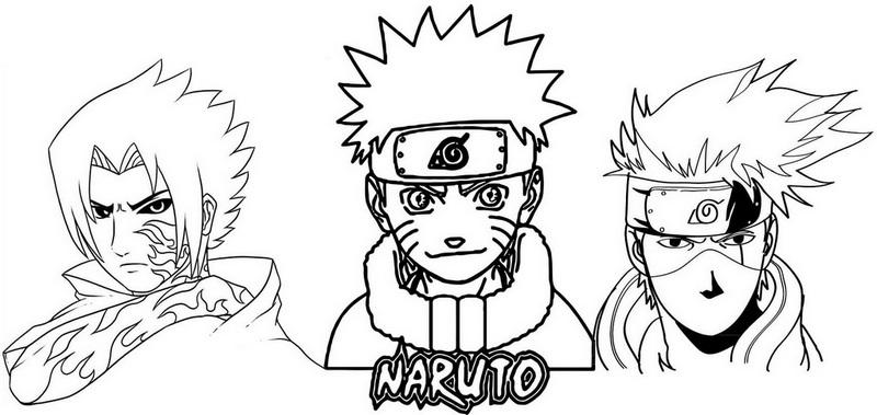 naruto mask characters coloring page