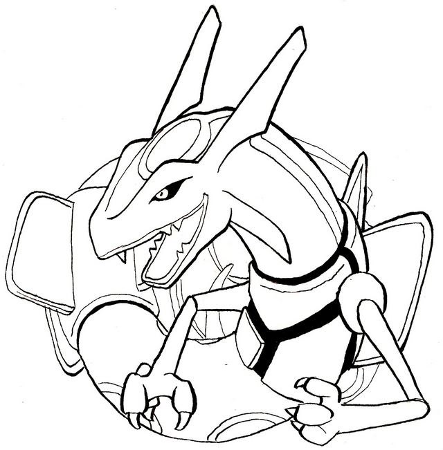new rayquaza coloring pages for kids