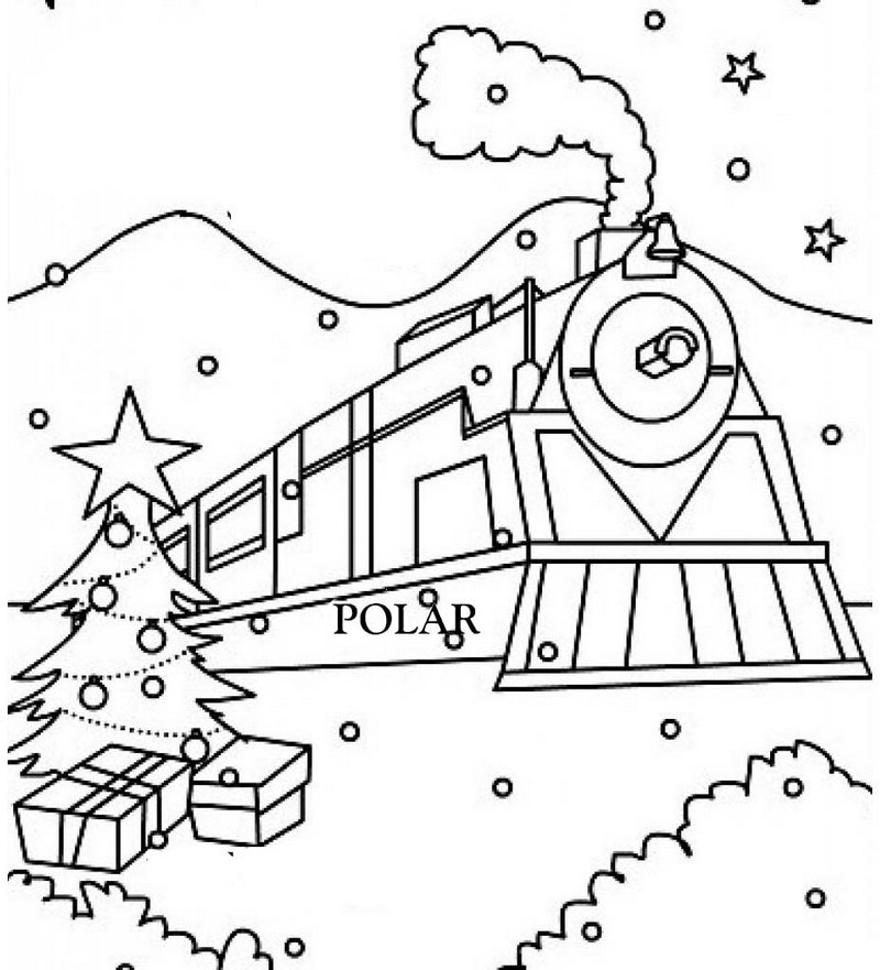 polar express train ride coloring pages