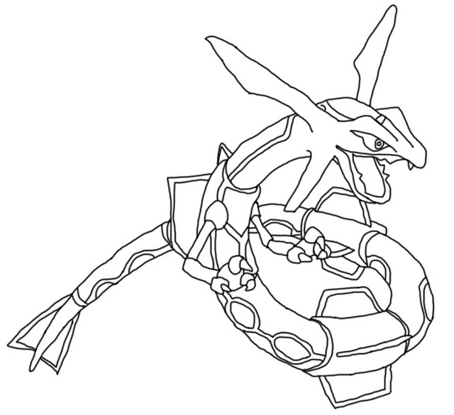 rayquaza dragon coloring page