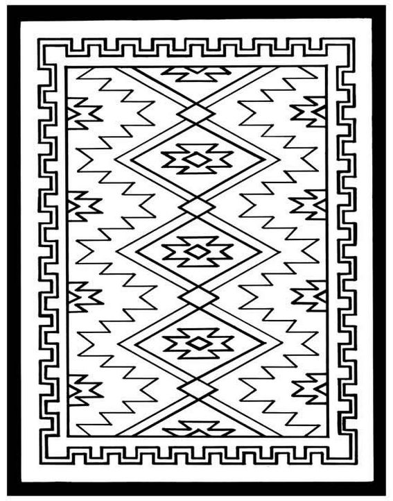 rug quilts clipart coloring page design