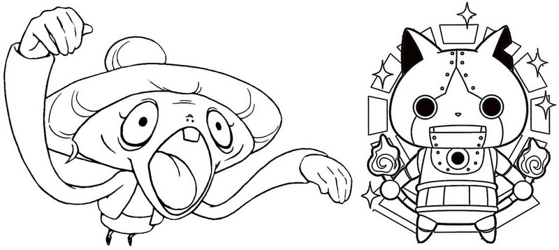 tattletell yo kai watch coloring page for kids