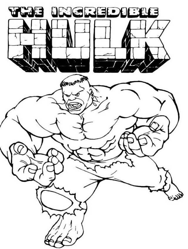 the incredible hulk coloring pages for fans marvel