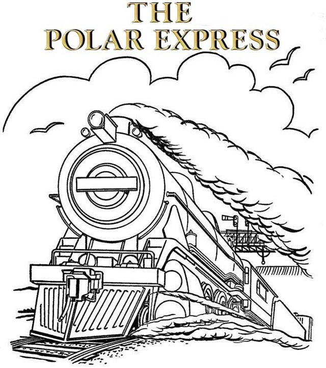 the polar express train coloring pages