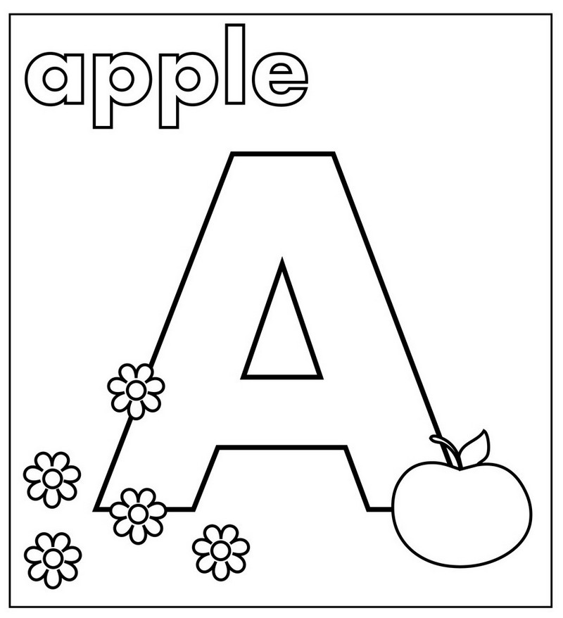 Alphabet A Coloring Page for Preschoolers