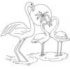 8 Beautiful Flamingo Coloring Pages for Kids