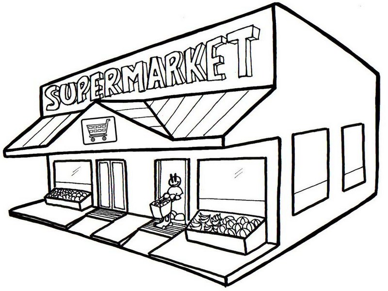 Best Grocery Store Coloring Page