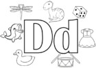 5 Fun Letter D Coloring Pages for Kids