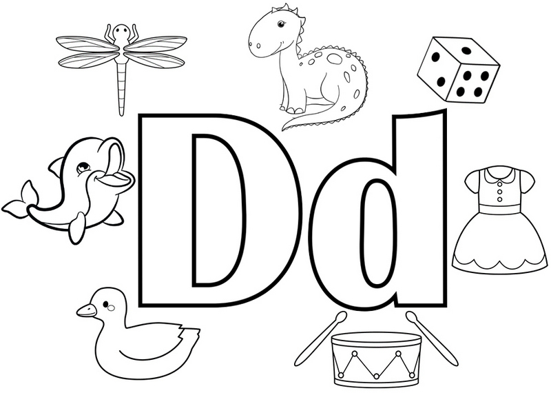 Best Letter D Coloring Page