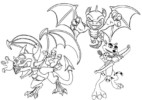 The Legend of Spyro Coloring Pages for Fans