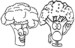 Top Topic Broccoli Coloring Pages for Preschool Students