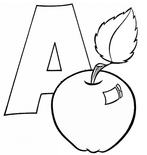 Fun Letter A Coloring Page for Children