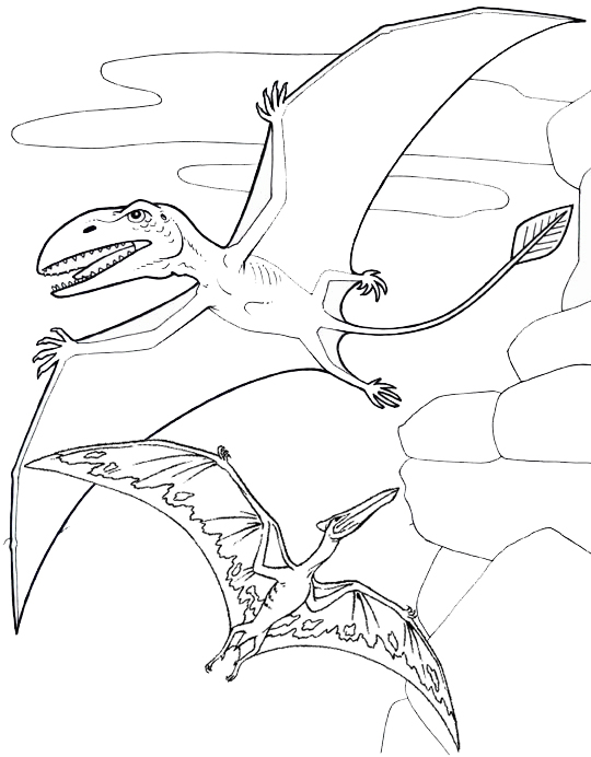 Top Pterosaur Coloring Page for Children