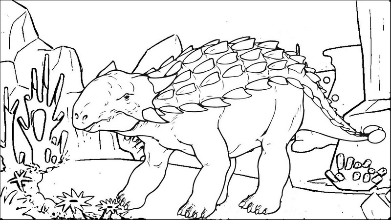 awesome ankylosaurus coloring page printable