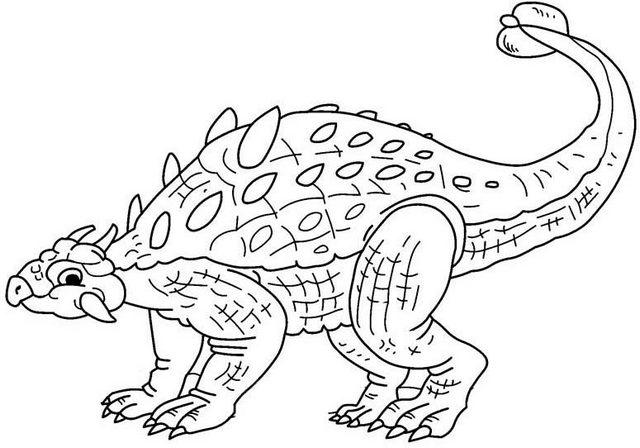 fun ankylosaurus coloring page