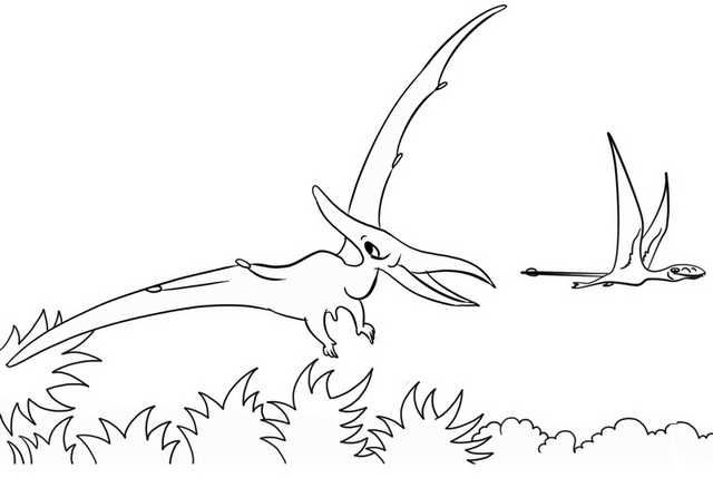 pterodactyl jurassic park coloring page