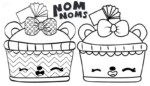 14 Characters of Funny Num Noms Coloring Pages for Kids