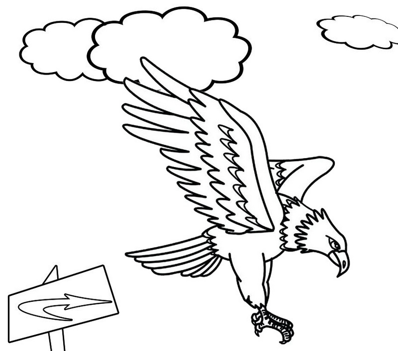 Eagle Landing Coloring Page