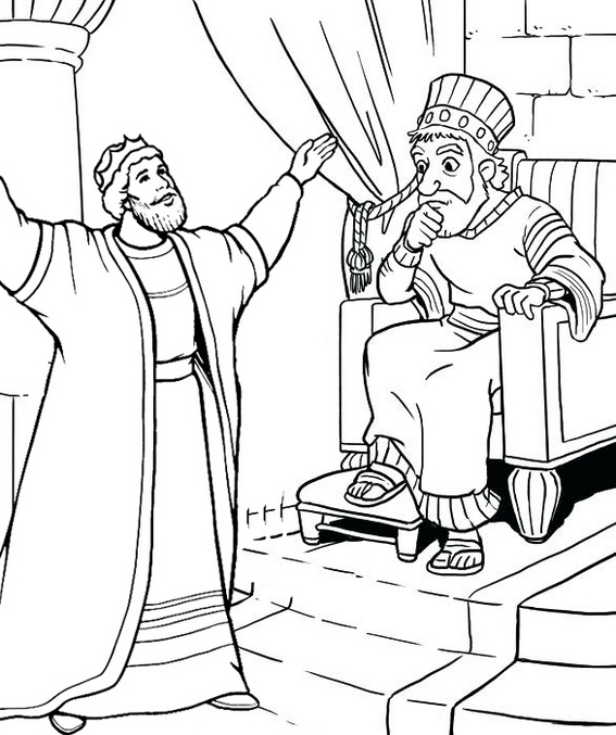 King coming friend coloring page