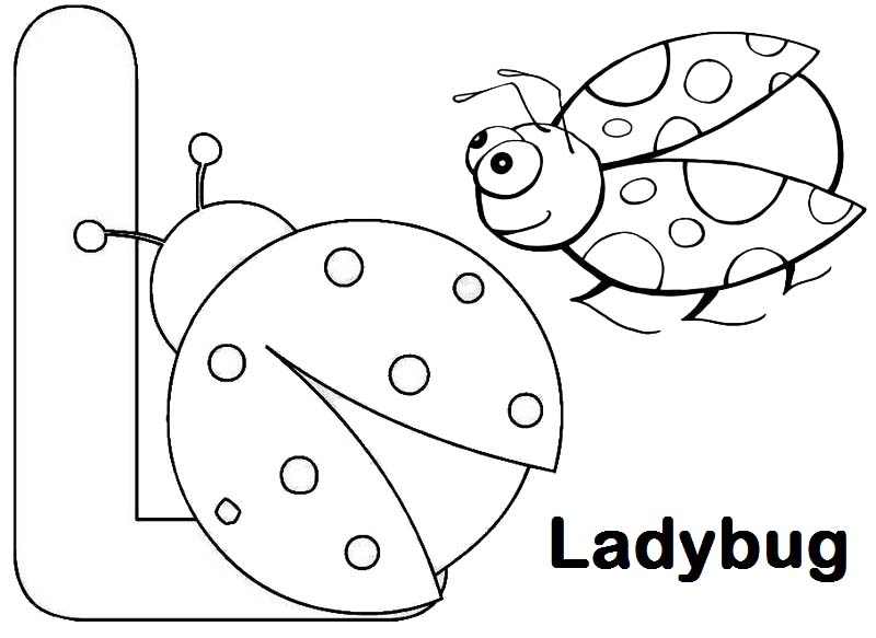 6 Simple Letter L Coloring Pages for Children's Learning Materials ...