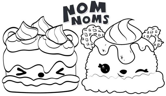 Sammy Smores and berry scoop from Num Noms Coloring Page