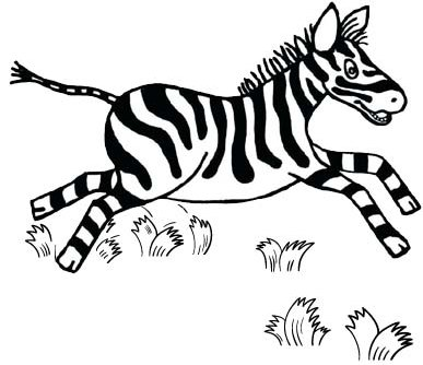 Zebra Jumping Coloring Page